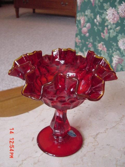 Vintage Fenton Glassware Amberina Ruby Glass by aflashbackintime