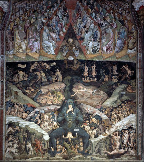 Bologne, basilique San Petronio, chapelle Bolognoni (1410-1412) Enfer par Giovanni da Modena: