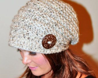 Slouchy sombrero gacho gorrita tejida mano la chica con por lucymir