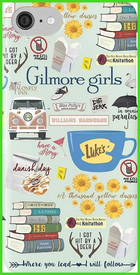 Gilmore Girls Collage mint green iPhone Case by birchandbark Gilmore Girls phone case So many favorites from Gilmore Girls A stack of classic novels Hep Aliens sandwich tour van Rory s 21st birthday cocktail and what s a danish without a cup of coffee from Luke s Diner So many memories from our favorite town of Stars Hollow You are in the right place about van life hellip #birchandbark #collage #fordcampervan #gilmore #girls #green #iphone #vanlifebeach #vanlifewallpaper
