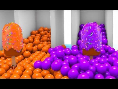 Anak Mewarnai Bola Dan Es Krim 3d Yang Menyenangkan Warna Anak