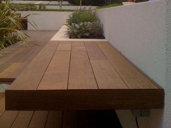 Banco para terraza terrazas pinterest plantas y for Banco para terraza