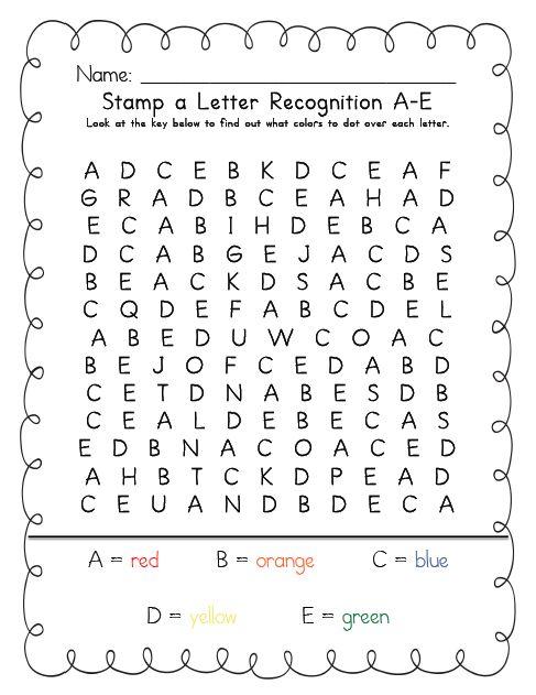 Kinder Garden: Stamp An Uppercase Letter Kristen's Kindergarten Www