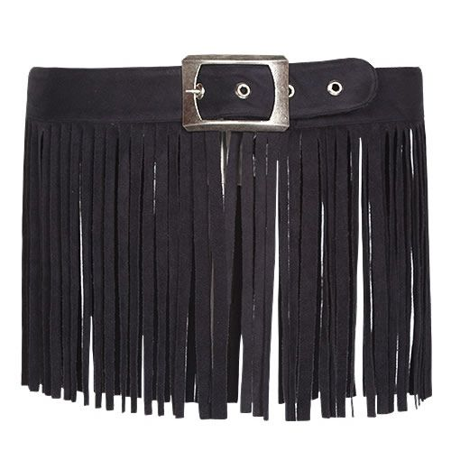Sexy Women Black Tassel Boho Gothic Waist Belt Clothing Accessories SKU-71107008