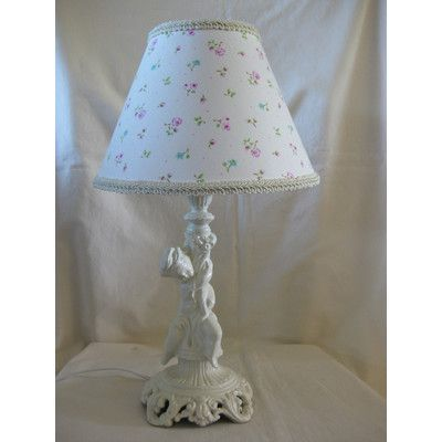 """Silly Bear Angel Baby Cherab 13.5"""" H Table Lamp with Empire Shade Shade:"""