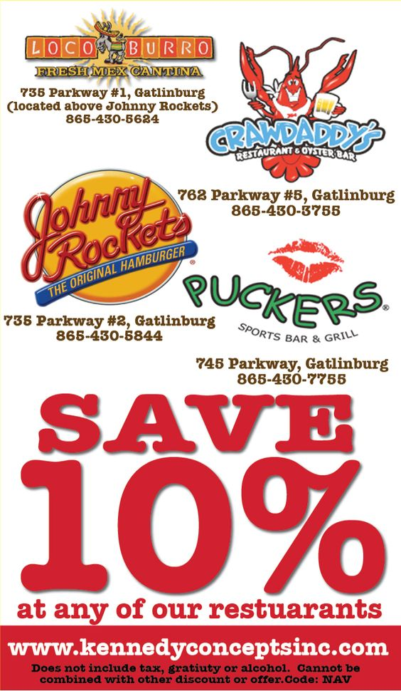 Discount coupons pigeon forge tn