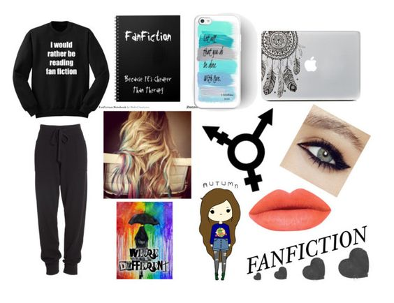 """FAN FICTION"" by supershelbs ❤ liked on Polyvore featuring Donna Karan, GUESS, Identity and xO Design"