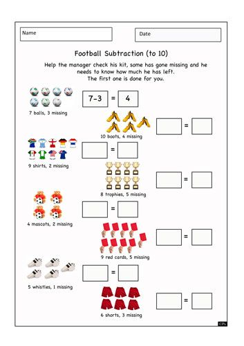 Printables 1099 Worksheet subtraction worksheets student centered resources and need to on worksheet resource 13 1099 football themed numeracy help the manager check his