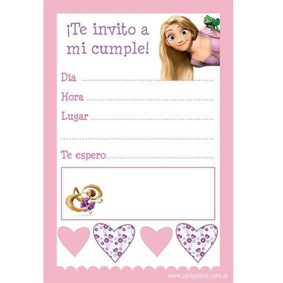 Como Hacer Tarjetas De Invitación De Rapunzel Imagui