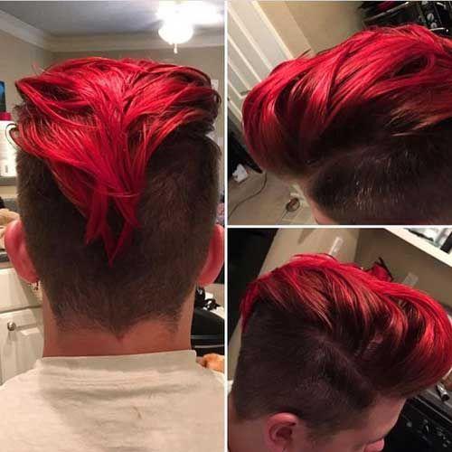 Color de pelo rojo en hombres