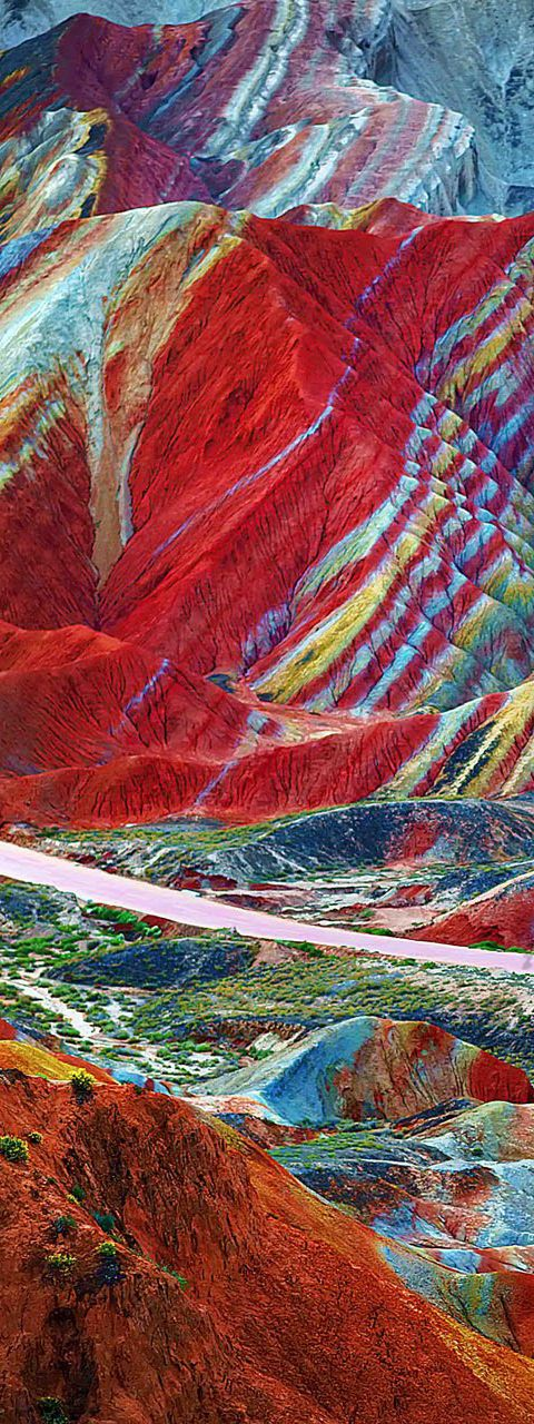 The Zhangye Danxia Landform Geological Park in Gansu Province   China