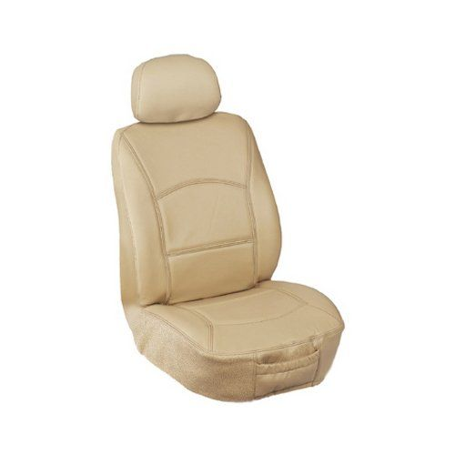 Elegant Universal Front Bucket Seat Cover Genuine Leather Fabric Tan Read More At The Image L Leather Car Seat Covers Bucket Seat Covers Leather Fabric