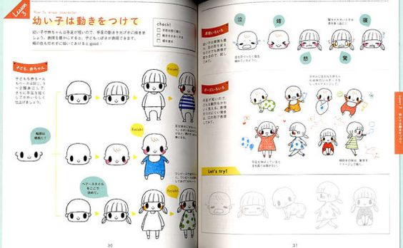 Petit Kawaii Illustrations with Ball Point Pens by pomadour24