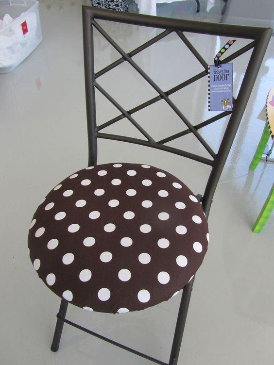 Polka Dot Round Bistro Chair Cushion Round Bistro Chair
