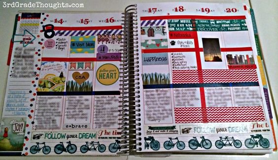 """3rd Grade Thoughts: """"Making My Erin Condren Life Planner Work for Me!"""" Review #eclifeplanner14"""