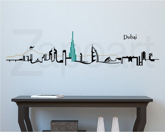 New York City Skyline Wall Decal City Skylines Wall Decals And City - Wall decals dubai