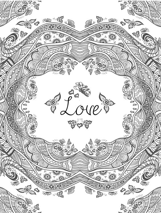 valentine coloring pages advanced - photo #5