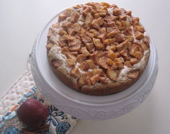 Spiced apple cream cheese coffee cake from recipe at form 5 artisan