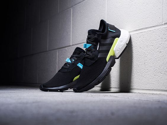 Oto Nowe Adidas Pod S3 1 W Kolorystyce Core Black White Casual Shoes Sneaker Head Blue Shoes