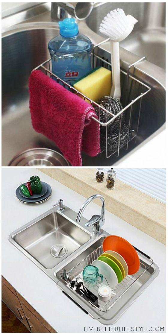12 Amazing Kitchen Sink Organization Ideas Kitchen Sink Organization Sink Organizer Best Kitchen Sinks