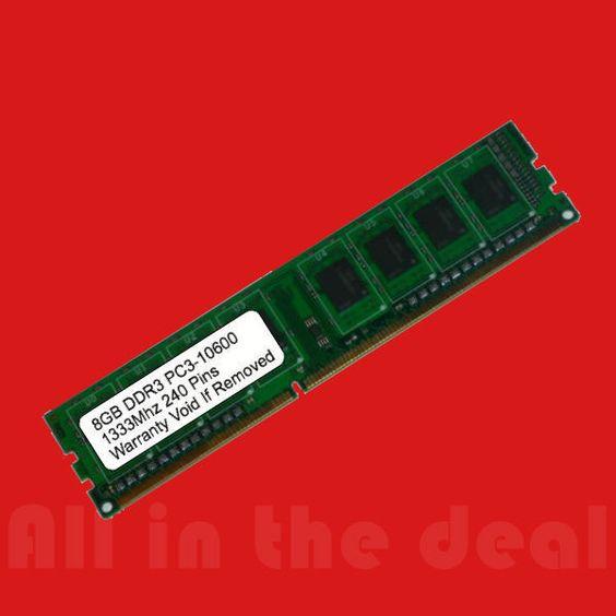 NEW 16GB 2x 8GB DDR3 1333MHz PC3-10600 DESKTOP Memory Non ECC 1333 Low Density
