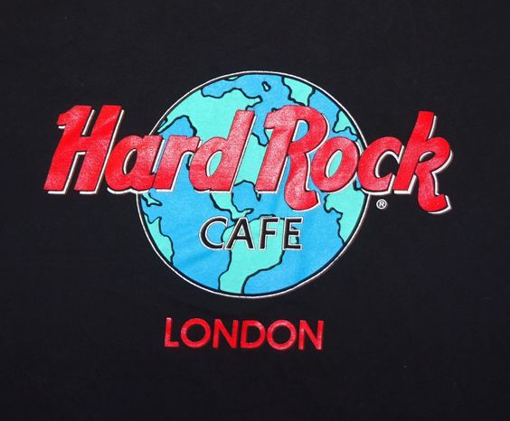 Hard Rock Cafe London Early Globe Design Size Large Excellent Graphics