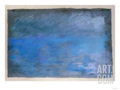 Waterloo Bridge, Brouillard, Pastel on Blue Paper 1901 Giclee Print by Edgar Degas at Art.com