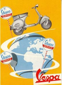 Vespa Motorcycle Advertising Poster A3 Reprint