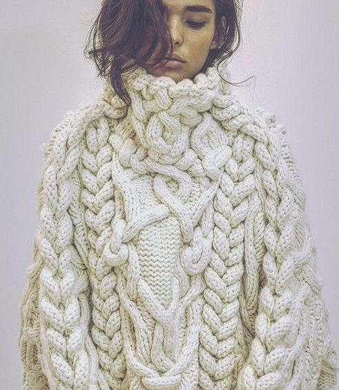 chunky knit | Grandma status | Pinterest | Beautiful, Cable and Tricot