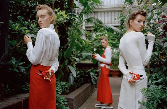 belles plantes: clementine deraedt, shanna jackway and eliza thomas by michal pudelka for numéro #167 october 2015 | visual optimism; fashion editorials, shows, campaigns & more!: