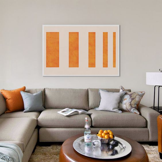 Modern Art - Orange Levies by 5by5collective 40x26