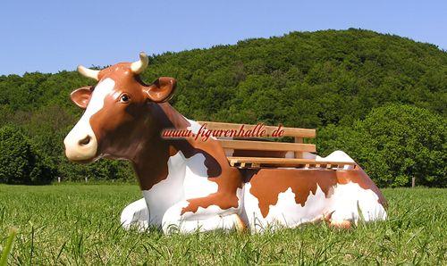 Kuh Als Gartenbank Braun Kuh Gartenbank Deko