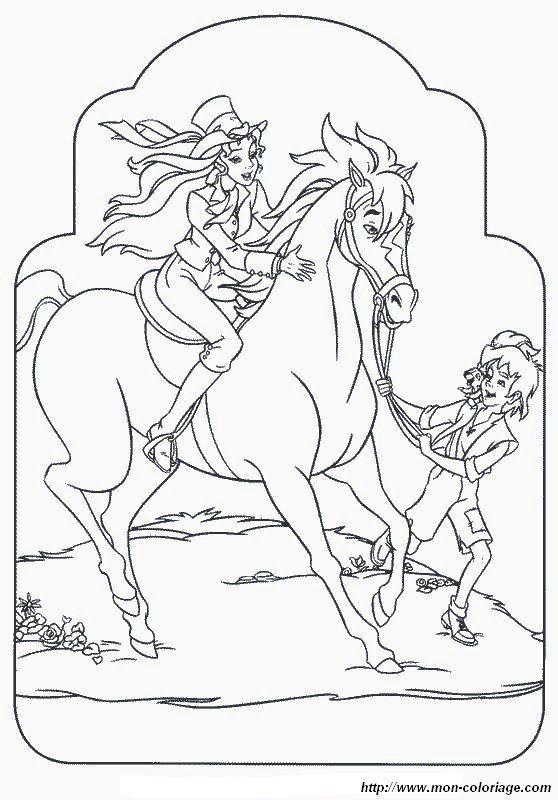 ausmalbild mit einem schonen pferd