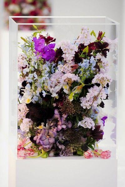 Interesting flower arrangements at Jill Sander F12.