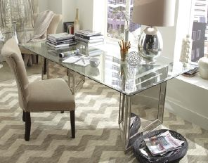 Turn a glass top dining table into a super chic workspace | Home ...