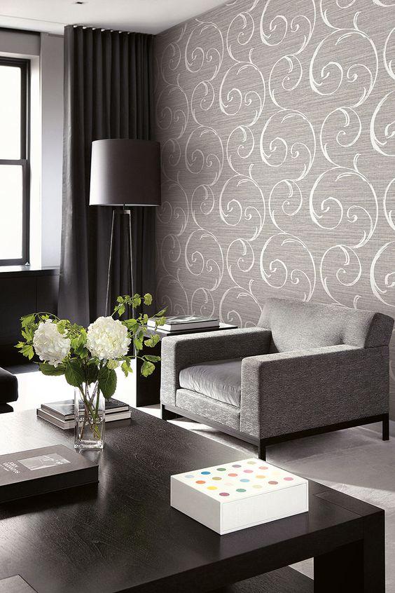 Ld82008 Lux Decor Wall Paper Decor Living Room Decor Interior Design Living Room