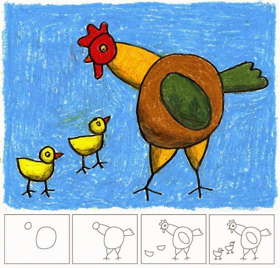 Mother Hen And Chicks Art Projects For Kids