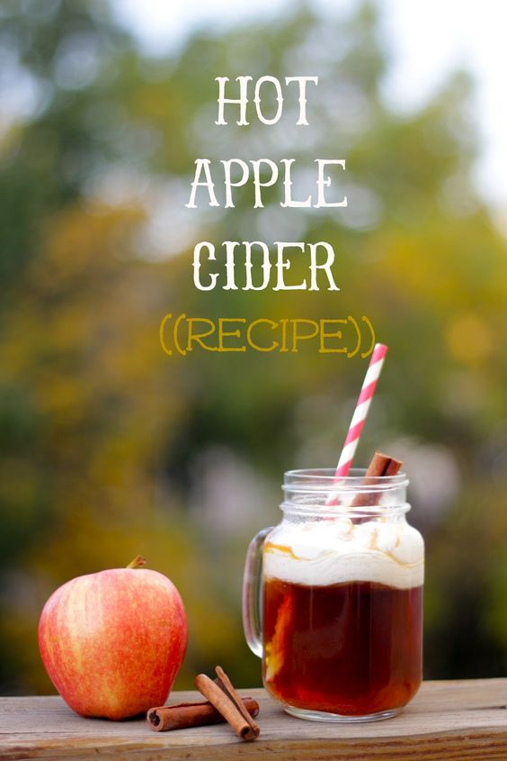 The BEST hot apple cider recipe.