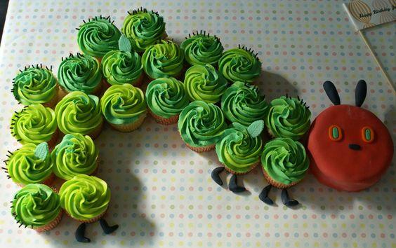 Hungry Caterpillar Cake: Caterpillar Cupcake Cake, Birthday Idea, 1St Birthday, Party Idea, Birthdaycake, Birthday Cake, Hungry Caterpillar Cupcake