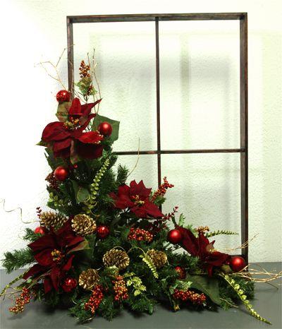 Arreglos florales navide os ventana navide a revista - Ideas para arreglos navidenos ...