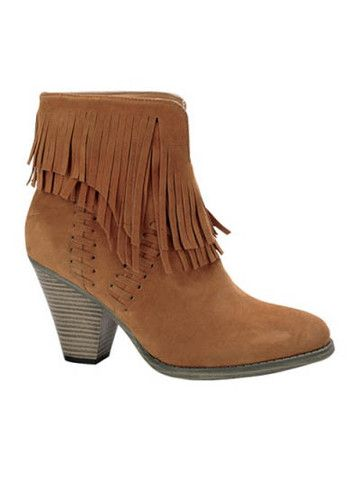 TAN FRINGE BOOTIES | DazyLu