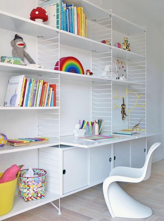 Modern and Minimal Wall Shelves for Kids' Rooms - The String Shelf #kids #decor