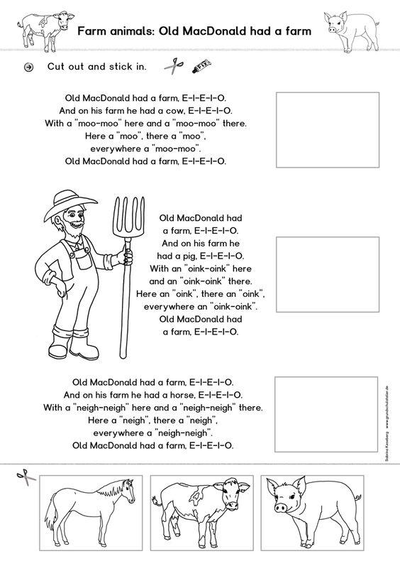 kostenloses arbeitsblatt zum thema farm animals tiere auf dem bauernhof f r den kostenlose. Black Bedroom Furniture Sets. Home Design Ideas