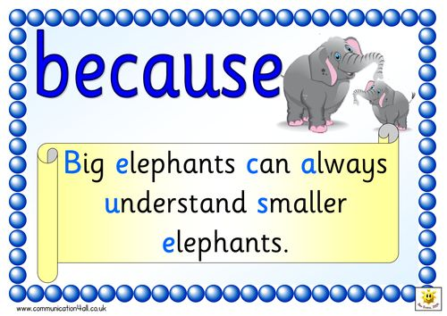 Mnemonic posters for spelling