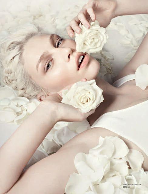 """""""In Love"""" features Aline Weber, shot by Liz Collins 4 Numéro April 2012"""