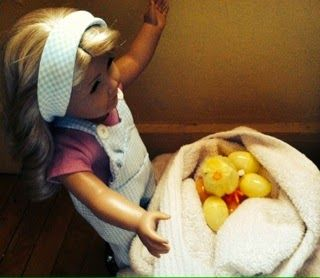 American Girl Sisters: Photo Story: My Chicken is Laying Eggs?