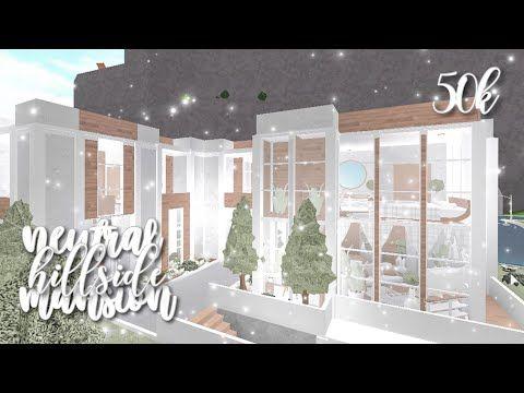 Bloxburg Neutral Hillside Mansion Exterior Youtube Unique House Design House Plans With Pictures Beautiful House Plans