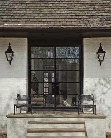 Gardens french doors and window on pinterest for Modern french doors exterior
