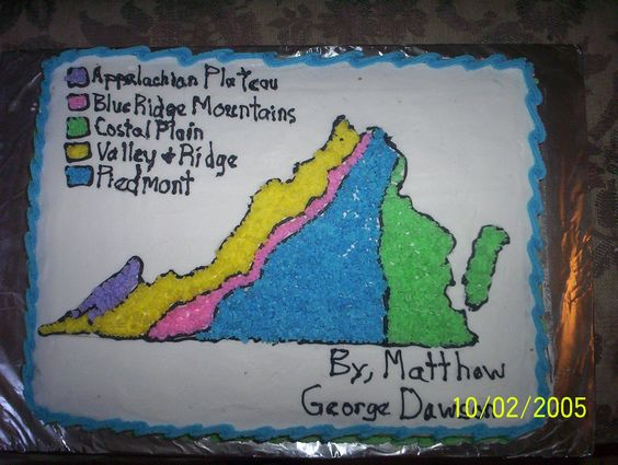 Virginia Regions map - My nephew had to draw a map of Virginia and ...