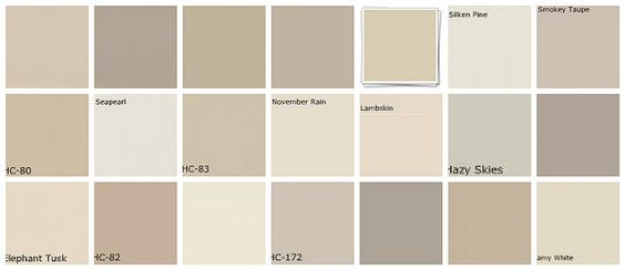 Designers' favorites neutral paint colors